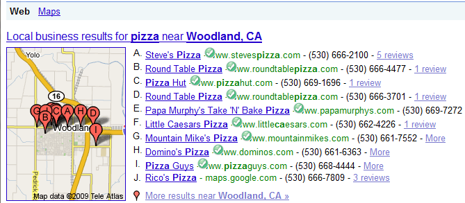 Google Local Business Results